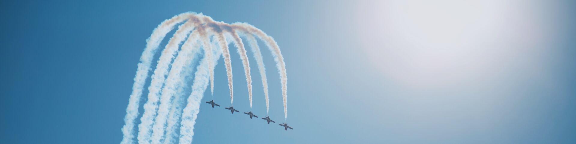 Snowbirds Performing Aerial Acrobatics