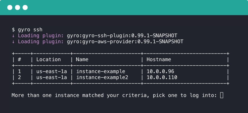 Introducing Gyro - Output from running gyro ssh extension [article-image]
